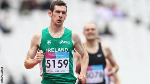 Michael McKillop became the first male athlete to set a world record in the London Olympic stadium in May