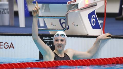 Bethany Firth celebrates after victory in the final