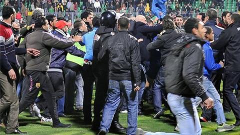 Egyptian football fans at Port Said