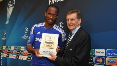 Didier Drogba and Andy Roxburgh