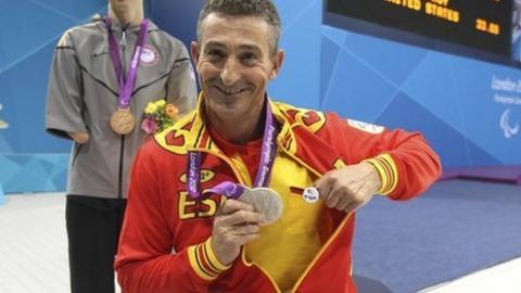 Spanish swimmer Sebastian 'Chano' Rodriguez