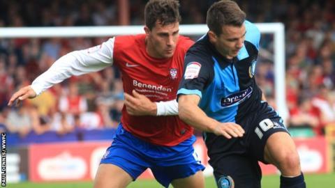 Matt Bloomfield (right) playing against York