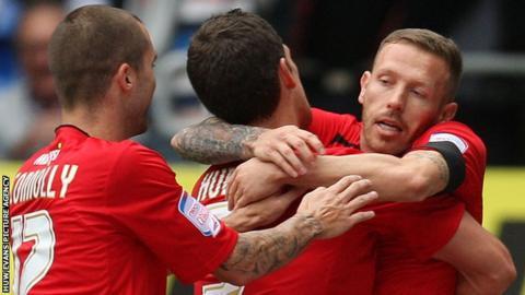 Craig Bellamy celebrates his goal for Cardiff City