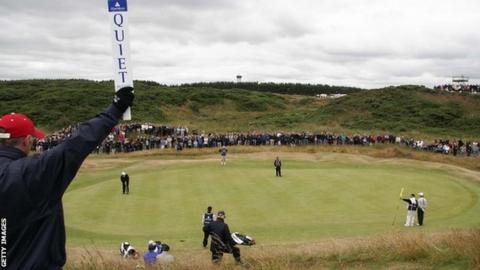 The second green at Royal Aberdeen during the 2005 Senior Open