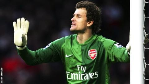 Jens Lehmann playing for Arsenal