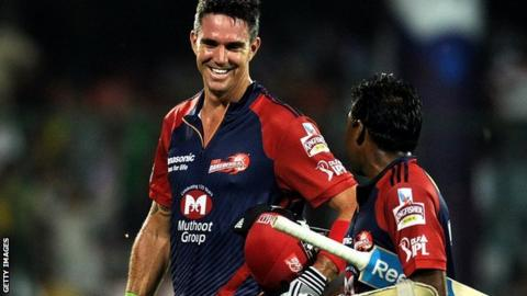 Kevin Pietersen playing for Delhi Daredevils