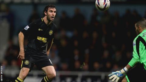 Wigan Athletic striker Mauro Boselli
