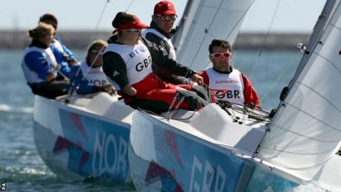 John Robertson, Stephen Thomas and Hannah Stodel competing at the Paralympics