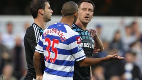 Anton Ferdinand (centre) and John Terry (right)