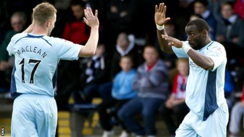St Johnstone strikers Steven MacLean and Gregory Tade