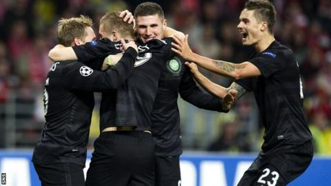 Celtic were 3-2 winners against Spartak Moscow