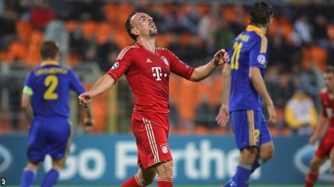 Franck Ribery shows his frustration