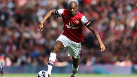 Arsenal midfielder Abou Diaby