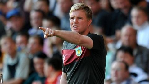 Burnley manager Eddie Howe