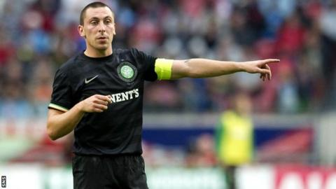 Brown in action for Celtic against Spartak Moscow
