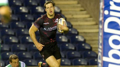 Edinburgh try scorer Tim Visser