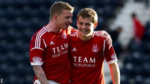 Aberdeen duo Jonny Hayes and Ryan Fraser