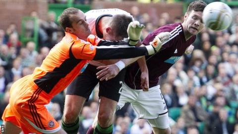 Jamie MacDonald was hurt during a collision with Charlie Mulgrew