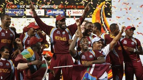 West Indies celebrations