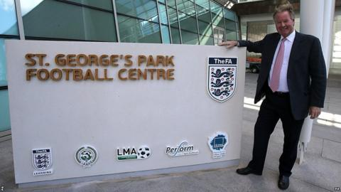 David Sheepshanks, chairman of St George's Park, outside the entrance