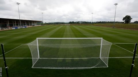 One of the 11 outdoor training pitches at St George's Park