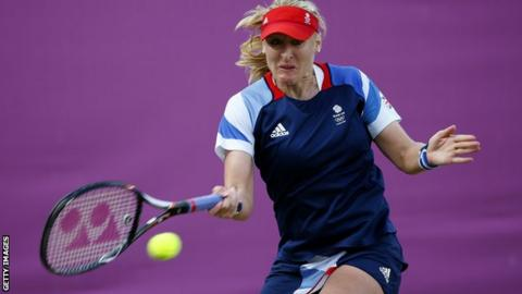 Baltacha in action during the Olympics in London