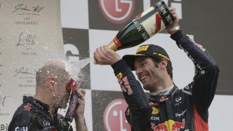 Mark Webber at the Korean GP