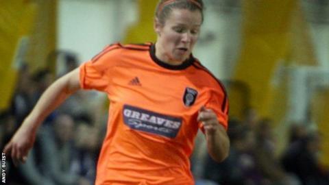 Emma Mitchell scored twice for Glasgow at Ravenscraig