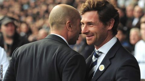 Andre Villas-Boas (right) with Chelsea boss Roberto Di Matteo