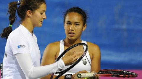 Laura Robson and Heather Watson