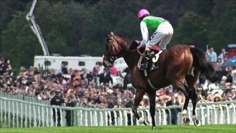 Tom Queally and Frankel at Ascot