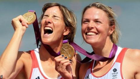 Katherine Grainger and (right) Anna Watkins