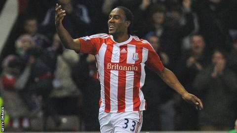 Stoke City striker Cameron Jerome