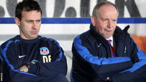 Dougie Freedman (l) and Lennie Lawrence