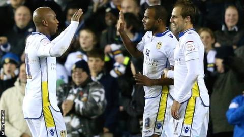 Leeds celebrate during their fourth-round win over Southampton