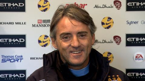 Manchester City manager, Roberto Mancini
