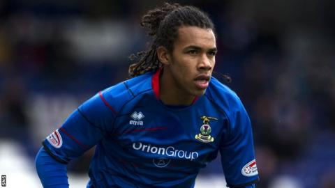 Roberts in action for Caley Thistle