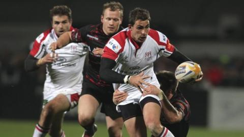 Action from Ulster's 45-20 win over Edinburgh