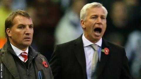 Brendan Rodgers and Alan Pardew [right]