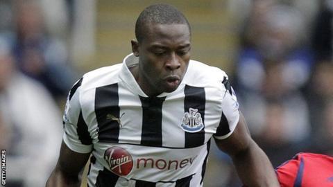 Nigeria and Newcastle striker Shola Ameobi