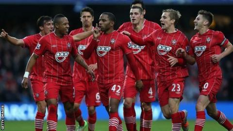 Southampton players celebrate
