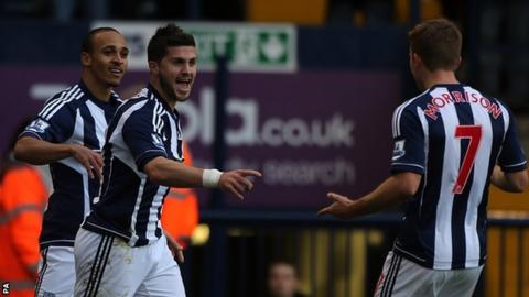 Peter Odemwingie (left), Shane Long (middle) and James Morrison