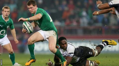 Craig Gilroy scored three tries against Fiji