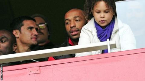 Thierry Henry (centre)