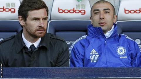 Andre Villas-Boas (l) with Roberto Di Matteo