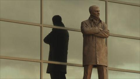 A statue of Sir Alex Ferguson