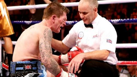 Ricky Hatton is counted out