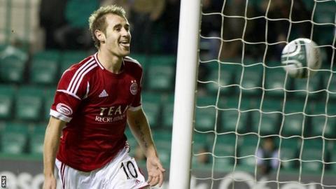 Aberdeen goalscorer Niall McGinn