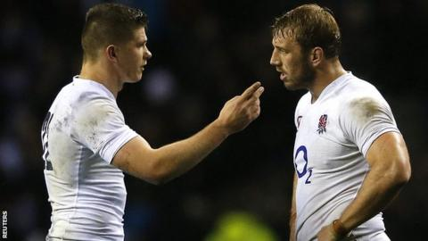 Owen Farrell and Chris Robshaw discuss the decision to kick for goal