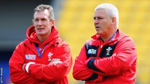 Rob Howley and Warren Gatland